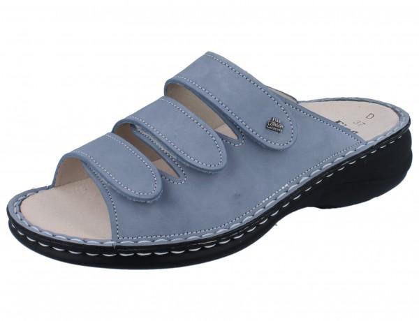 FINN COMFORT Hellas Damen Pantolette blau lightblue/Nubuk