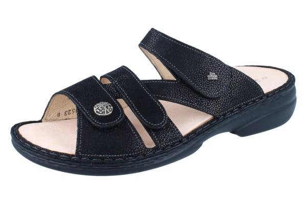 FINN COMFORT Ventura Soft Damen Pantolette schwarz/Longbeach