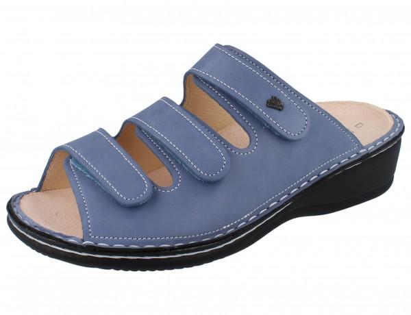 FINN COMFORT Pisa Damen Pantolette blau jeans/Fenell