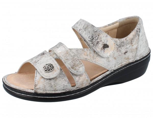 FINN COMFORT Sintra-Soft Damen Sandale grau mehrfarbig stone/Berna