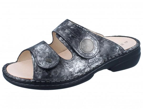 FINN COMFORT Sansibar Damen Pantolette grau grey/Reflex