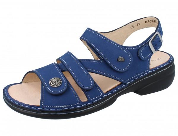 FINN COMFORT Gomera Damen Sandalen blau kobalt/Nubuk