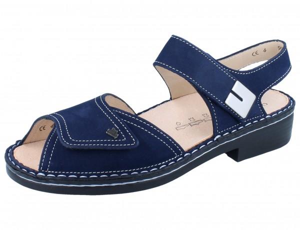 FINN COMFORT Luxor Damen Sandale blau atoll/Nubuk