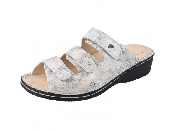FINN COMFORT Pisa Damen Pantolette grau mehrfarbig stone/Berna