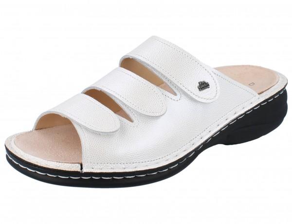 FINN COMFORT Hellas Damen Pantolette weiß/silber argento/Raggio