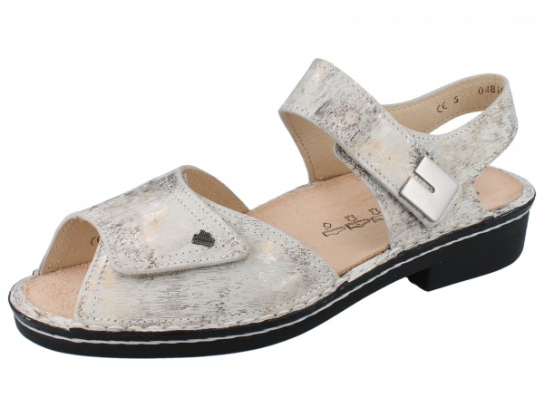 FINN COMFORT Luxor Damen Sandale grau mehrfarbig stone/Berna