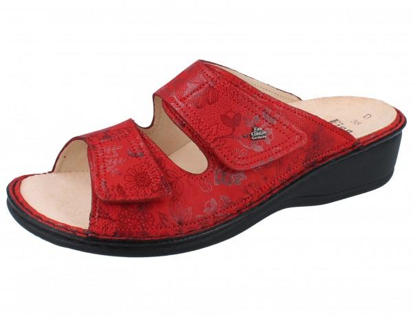 FINN COMFORT Jamaika Damen Pantolette rot red/Jardin