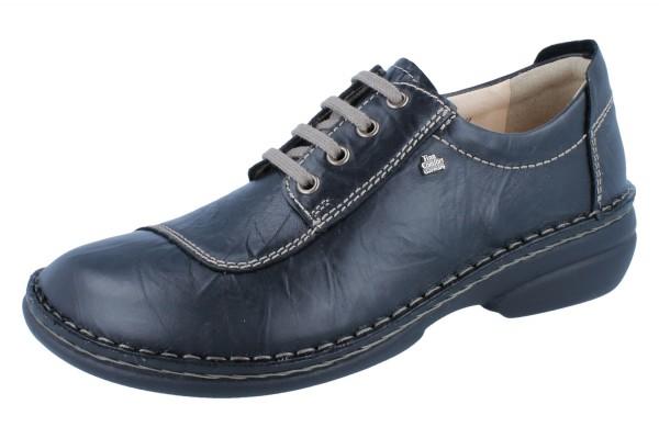 FINN COMFORT Lexington Damen Halbschuhe Schnürschuhe schwarz/Plissee