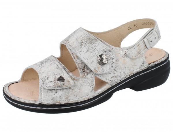 FINN COMFORT Milos Damen Sandale grau mehrfarbig stone/Berna