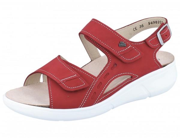 FINN COMFORT Suva Damen Sandale rot pomodore/Nubuk