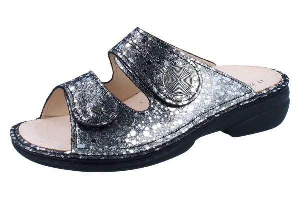 FINN COMFORT Sansibar Damen Pantolette grau/silber plata/Estelar
