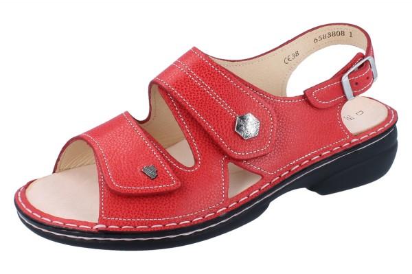 FINN COMFORT Milos Damen Sandale rot signalred/Eldora