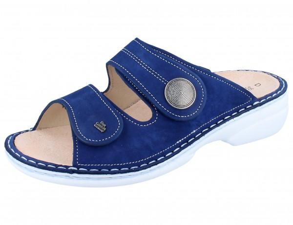 FINN COMFORT Sansibar Damen Pantolette blau kobalt/Nubuk