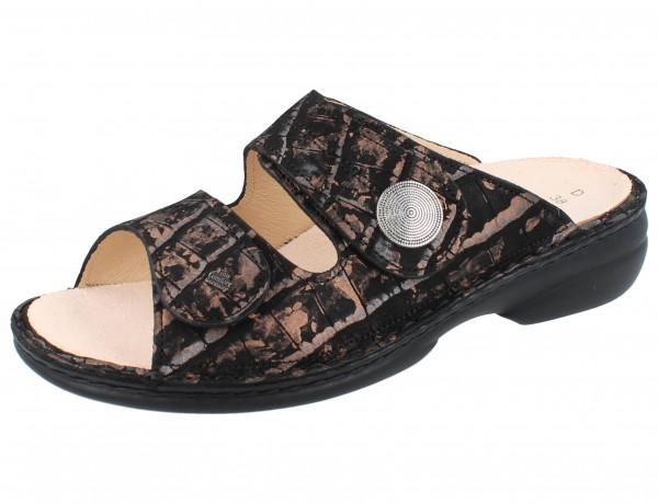FINN COMFORT Sansibar Damen Pantolette kupfer/schwarz copper/Dalia