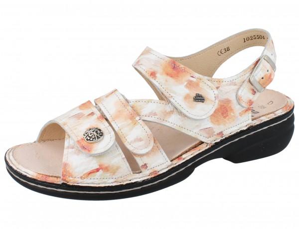 FINN COMFORT Gomera Damen Sandalen mehrfarbig aprikot peach/Fiore