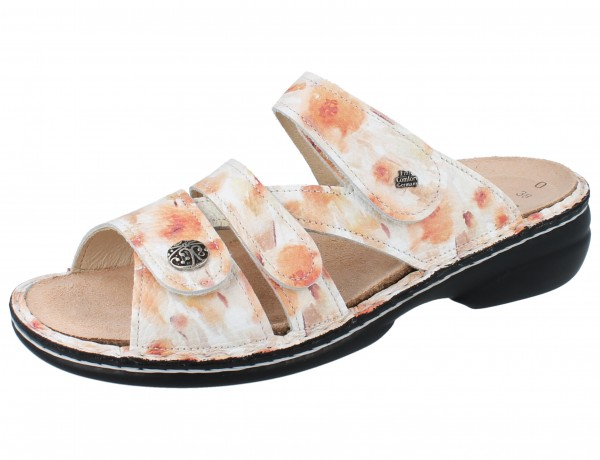 FINN COMFORT Ventura Soft Damen Pantolette aprikot mehrfarbig peach/Fiore