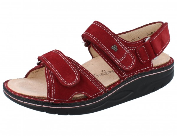 FINN COMFORT FINNAMIC Yuma Damen Sandale rot brick/Tango