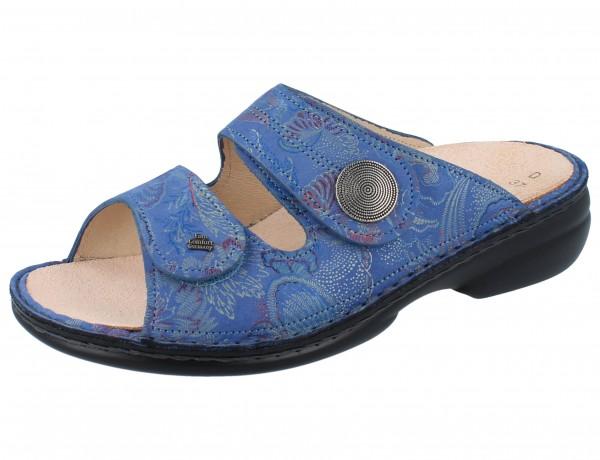 FINN COMFORT Sansibar Damen Pantolette blau pacific/Shibu