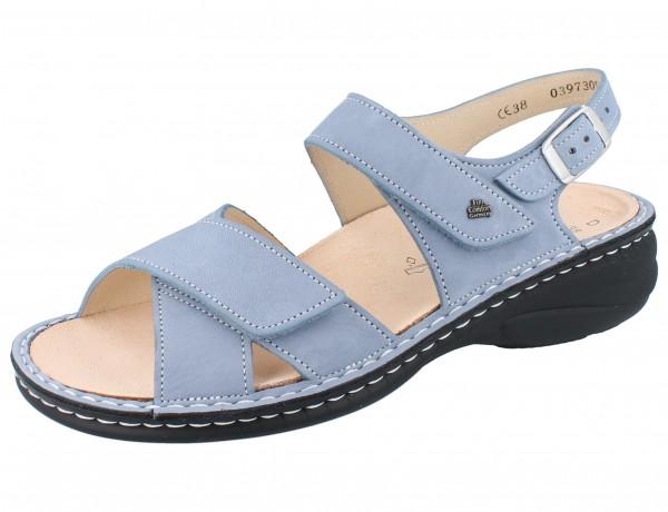 FINN COMFORT Linosa Damen Sandalen blau lightblue/Nubuk