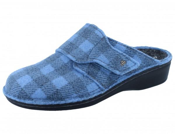 FINN COMFORT Andermatt Damen Clogs blau blue/Karofilz