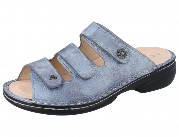 FINN COMFORT Menorca Soft Damen Pantolette blau jeans/Alfa