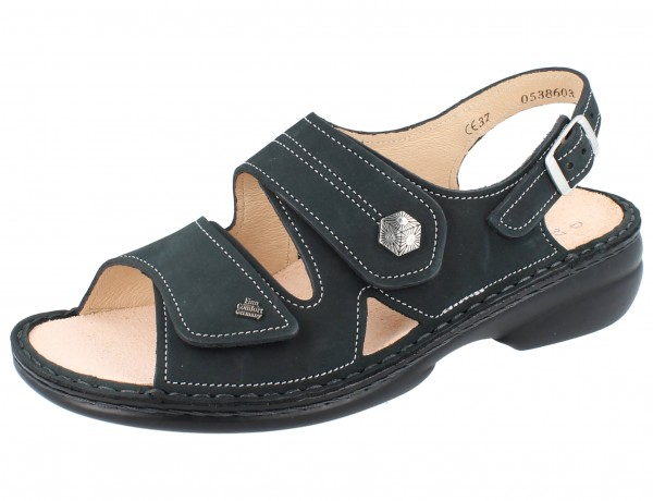 FINN COMFORT Milos Damen Sandale grau anthracite/Nubuk