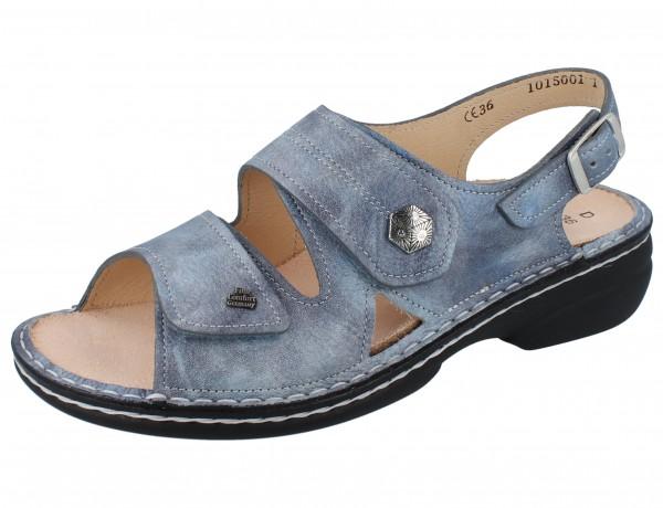 FINN COMFORT Milos Damen Sandale blau jeans/Alfa