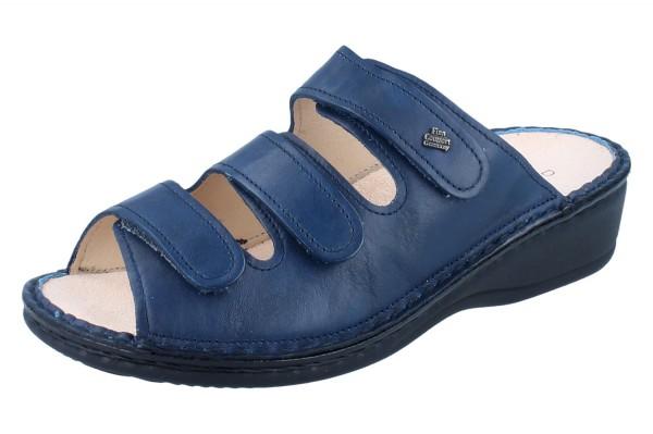 FINN COMFORT Pisa Damen Pantolette blau/Nappa
