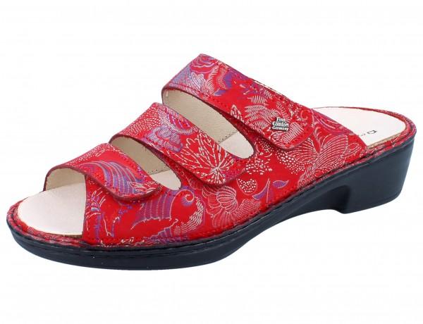FINN COMFORT Canzo Damen Pantolette rot pomodore/Shibu
