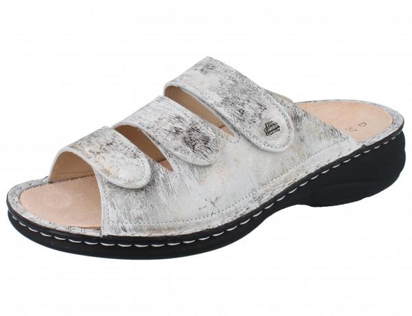 FINN COMFORT Hellas Damen Pantolette grau mehrfarbig stone/Berna