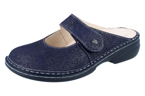 FINN COMFORT Stanford Damen Clogs blau atoll/Glitter