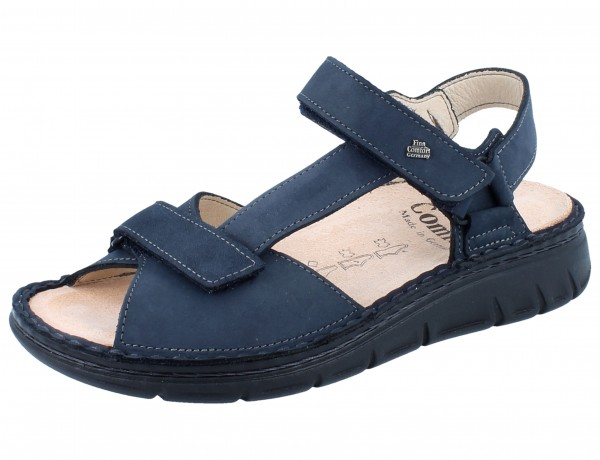 FINN COMFORT Vinales Soft Damen Sandale blau marine/Buggy