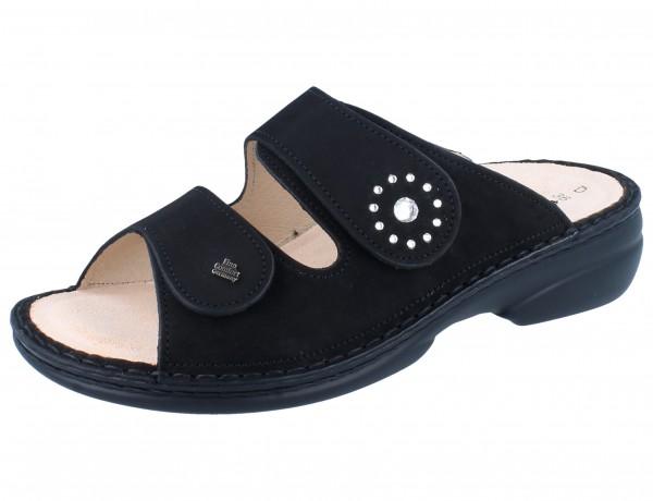 FINN COMFORT Beverly Soft Damen Pantolette schwarz/Nubuk