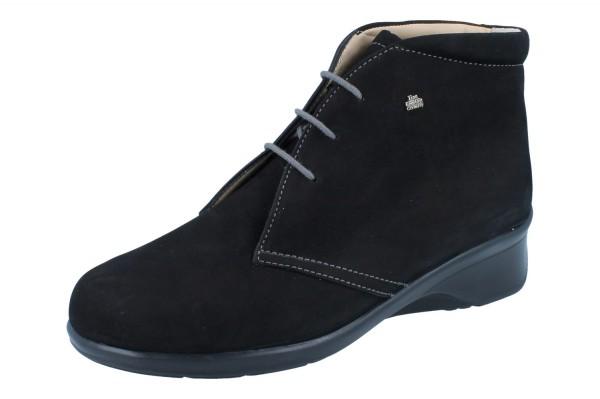 FINN COMFORT Mostar Damen Halbschuhe Stiefel schwarz/Nubuk