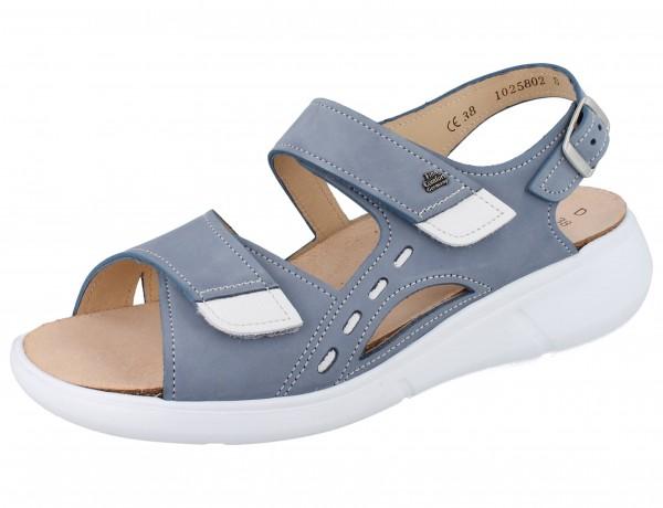 FINN COMFORT Suva Damen Sandale blau lightblue/weiss Nubuk/Clio