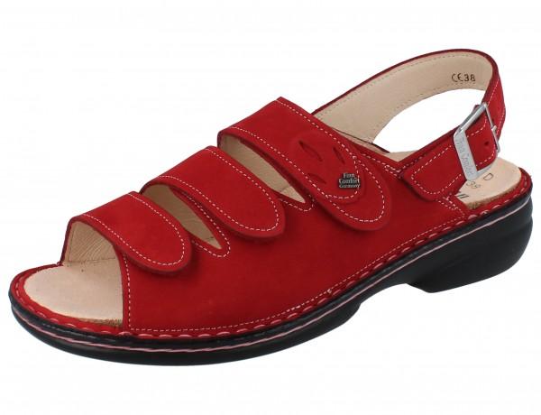 FINN COMFORT Saloniki Damen Sandale rot pomodore/Nubuk