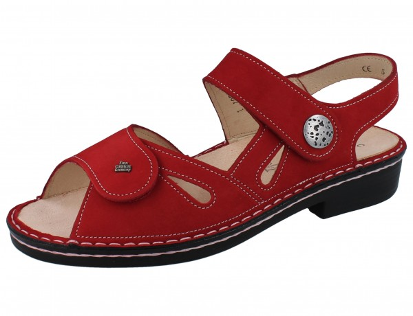 FINN COMFORT Costa Damen Sandale rot pomodore/Nubuk