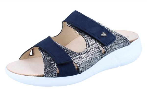 FINN COMFORT Palau Damen Pantolette blau argento/atlantic Doyle/Patagonia