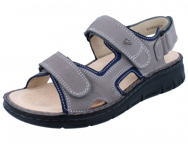 FINN COMFORT Wanaka Soft Damen Sandale grau grey/atoll BearReno/Nubuk