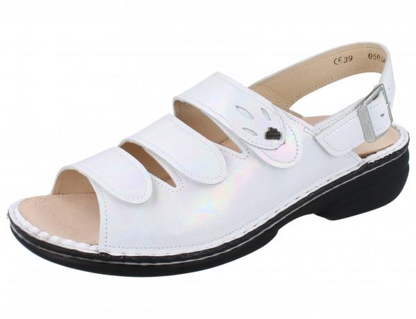 FINN COMFORT Saloniki Damen Sandale weiss perla/Iri