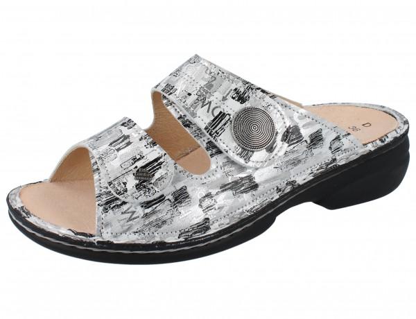 FINN COMFORT Sansibar Damen Pantolette grau/silber platero/Tayfun