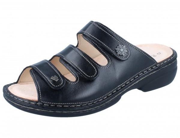 FINN COMFORT Menorca Soft Damen Pantolette schwarz/NappaSeda