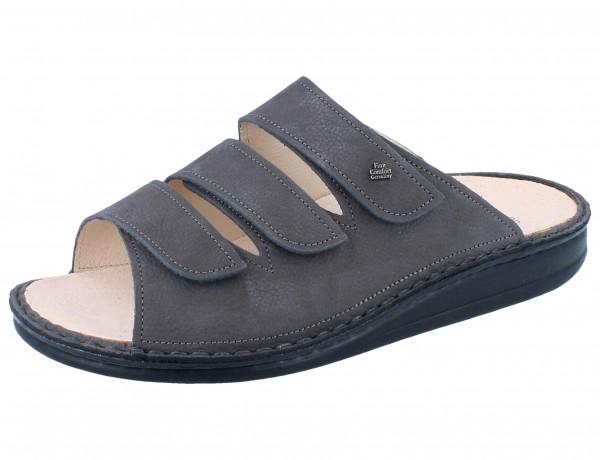 FINN COMFORT Korfu Damen Herren Pantolette grau darkgrey/BearReno