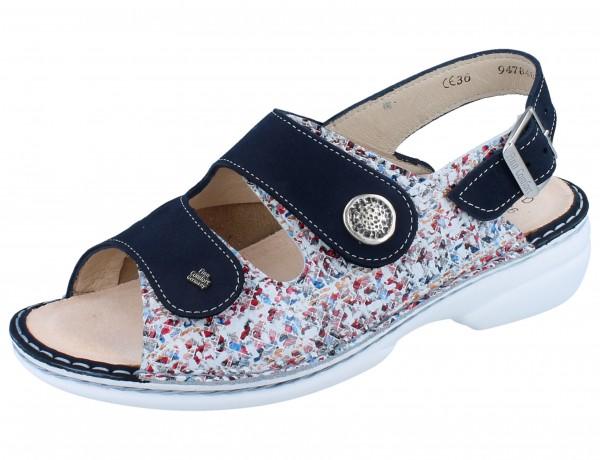 FINN COMFORT FINNSTRETCH Isera Damen Sandale mehrfarbig multi/blau Stretcheye