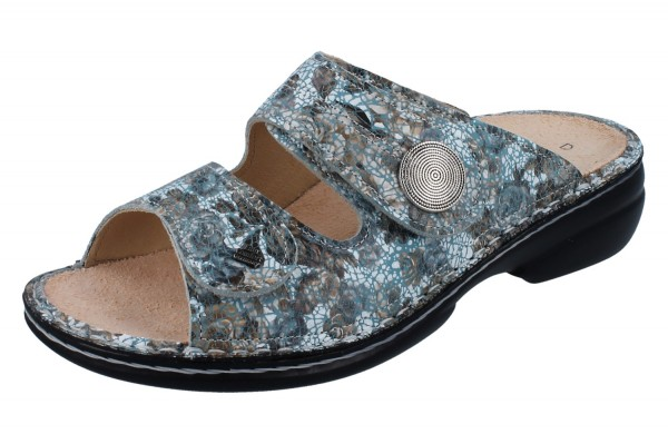FINN COMFORT Sansibar Damen Pantolette blau mehrfarbig aqua/Zamo