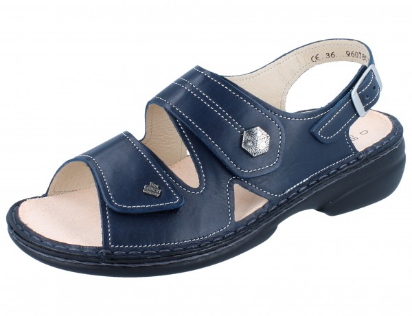 FINN COMFORT Milos Damen Sandale blau atlantic/Nube