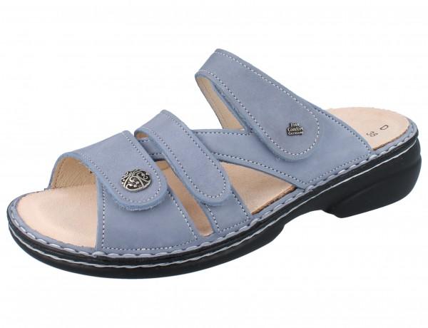 FINN COMFORT Ventura Soft Damen Pantolette blau lightblue/Nubuk