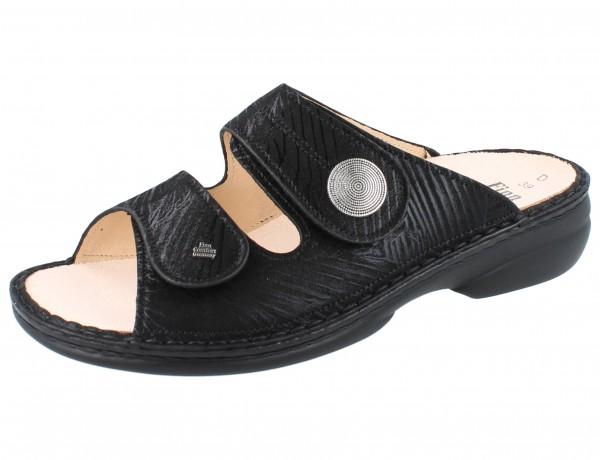 FINN COMFORT Sansibar Damen Pantolette schwarz nero/Crumble