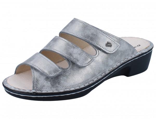 FINN COMFORT Canzo Damen Pantolette silber silver/Marley