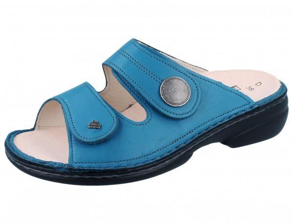 FINN COMFORT Sansibar Damen Pantolette blau petrol/Savanna